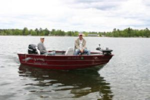 Fishing Boat for Rent at Pine Ridge Resort